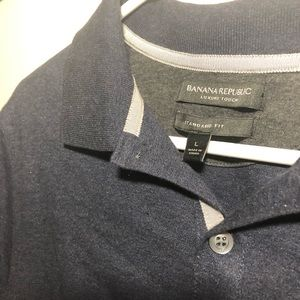 Banana republic blue luxury Polo collared shirt